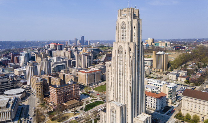 Cathedral of learning skyline